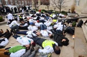 YSM White Coats 4 Black Lives Die-In, December 10, 2014